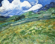 Mountainous Landscape Behind Saint-Paul Hospital by Vincent Van Gogh