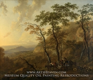 Mountainous Landscape with Muleteers by Nicolaes Berchem
