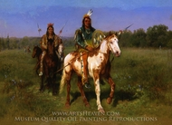 Mounted Indians Carrying Spears painting reproduction, Rosa Bonheur