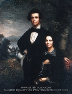 Mr. and Mrs. Daniel T. MacFarlan painting reproduction, Theodore E. Pine