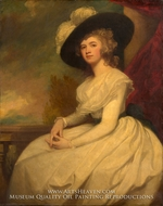 Mrs. Bryan Cooke (Frances Puleston) painting reproduction, George Romney