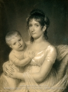 Mrs. Daniel Strobel, Jr. (Anna Church Strobel) and Her Son, George by John Vanderlyn