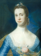 Mrs. Edward Green (Mary Storer) painting reproduction, John Singleton Copley