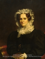 Mrs. Edward Kellogg painting reproduction, Samuel Lovett Waldo