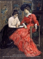Mrs. F. Luis Mora and Her Sister painting reproduction, Francis Luis Mora