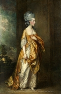 Mrs. Grace Dalrymple Elliotte painting reproduction, Thomas Gainsborough