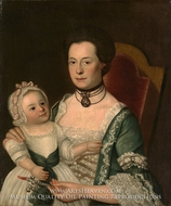 Mrs. Jacob Hurd and Child by William Johnston