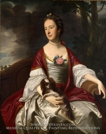 Mrs. Jerathmael Bowers by John Singleton Copley