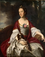 Mrs. Jerathmael Bowers painting reproduction, John Singleton Copley