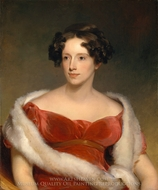 Mrs. John Biddle (Eliza Falconer Bradish) painting reproduction, Thomas Sully