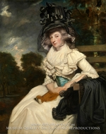 Mrs. Lewis Thomas Watson (Mary Elizabeth Milles) painting reproduction, Sir Joshua Reynolds