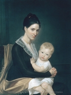 Mrs. Marinus Willett and Her Son Marinus, Jr. painting reproduction, John Vanderlyn