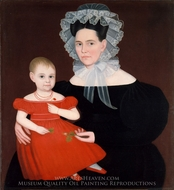 Mrs. Mayer and Daughter painting reproduction, Ammi Phillips