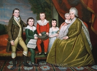 Mrs. Noah Smith and Her Children painting reproduction, Ralph Earl