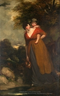 Mrs. Richard Brinsley Sheridan and Her Son painting reproduction, John Hoppner