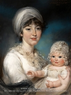 Mrs. Robert Shurlock (Henrietta Ann Jane Russell) and Her Daughter Ann by John Russell
