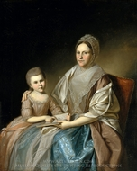 Mrs. Samuel Mifflin and Her Granddaughter Rebecca Mifflin Francis painting reproduction, Charles Willson Peale