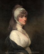 Mrs. Thomas Pechell painting reproduction, John Hoppner