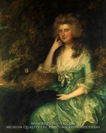 Mrs. William Tennant (Mary Wylde) painting reproduction, Thomas Gainsborough