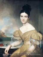 Mrs. Winfield Scott painting reproduction, Asher Brown Durand