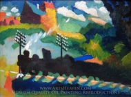 Murnau-View with Railway and Castle painting reproduction, Wassily Kandinsky