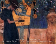 Music I by Gustav Klimt