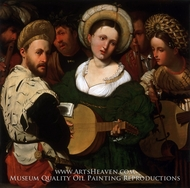 Musical Group painting reproduction, Callisto Piazza