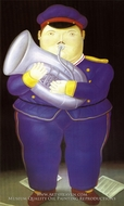 Musician painting reproduction, Fernando Botero