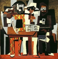 Musiciens aux Masques painting reproduction, Pablo Picasso (inspired by)