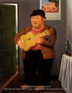 Musico painting reproduction, Fernando Botero
