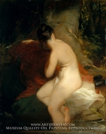 Musidora painting reproduction, Thomas Sully