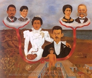 My Parents, My Grandparents and I painting reproduction, Frida Kahlo