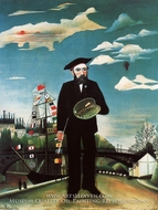 Myself, Landscape Portrait by Henri Rousseau