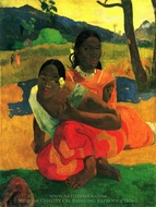 Nafeaffaa Ipolpo (When Will You Marry?) painting reproduction, Paul Gauguin