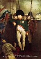 Napoleon Bonaparte on Board the Bellerophon in Plymouth Sound painting reproduction, Sir Charles Lock Eastlake