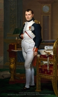 Napoleon in his Study painting reproduction, Jacques-Louis David