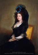 Narcisa Baranana de Goicoechea painting reproduction, Francisco De Goya