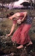 Narcissus painting reproduction, John William Waterhouse