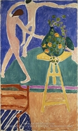 "Nasturtiums with the Painting ""Dance"" I by Henri Matisse"