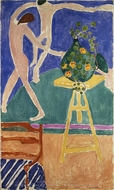 "Nasturtiums with the Painting ""Dance"" I painting reproduction, Henri Matisse"