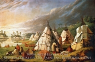 Native American Encampment on Lake Huron by Paul Kane
