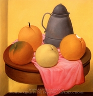 Naturaleza Muerta painting reproduction, Fernando Botero