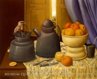 Naturaleza muerta con Lampara painting reproduction, Fernando Botero