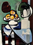 Nature Morte au Buste, Coupe et Palette painting reproduction, Pablo Picasso (inspired by)