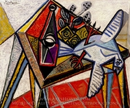Nature Morte avec Pigeon painting reproduction, Pablo Picasso (inspired by)