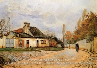 Neighborhood Street in Louveciennes by Alfred Sisley