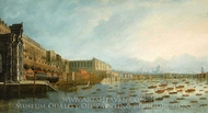 Nelson's Funeral Procession on the Thames, 9 January 1806 painting reproduction, Daniel Turner