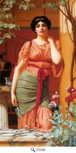 Painting Reproduction of Nerissa, John William Godward