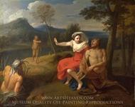 Nessus and Dejanira painting reproduction, Louis De Boullogne