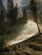 Nevada Falls, Yosemite painting reproduction, Albert Bierstadt
